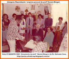 Agosto 1980 Casamento da professora Nazaré Braga e do Pe Salvador Zona