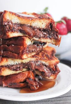 Nutella and Bacon Stuffed French Toast Recipe