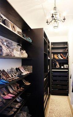 pax ikea walk-in closet... i like the rug as well!