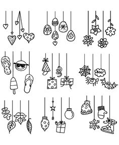 Nicola Storr Dangling Doodles Clear stamp set – Related posts: Jane's Doodles Clear Stamps to the Moon Beautiful Doodles by «Use to be presented I Heart … Bullet Journal Art, Bullet Journal Ideas Pages, Bullet Journal Inspiration, Doodle Lettering, Hand Lettering, Calligraphy Doodles, Doodle Drawings, Easy Drawings, Christmas Doodles