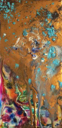 """Encaustic Wax Artwork, 30cm x 16cm (12"""" x 6"""")"""