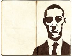 H.P. Lovecraft by Ensalada de cuchillos, via Flickr