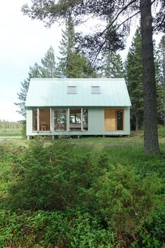 Bornstein Lyckefors design the perfect Swedish house with pitched roof Kallax, Cottage Design, House Design, Ideas De Cabina, Wooden Cottage, Wooden Houses, Swedish House, Cabins In The Woods, Prefab