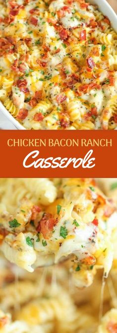 Dinner Recipes casserole 21 Easy Chicken Dinners That Are Tasty AF Chicken Bacon Ranch Casserole Frango Bacon, Good Food, Yummy Food, Le Diner, How To Cook Chicken, Easy Chicken Meals, Healthy Chicken, Recipes With Boiled Chicken, Casseroles With Chicken
