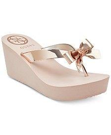 Wedge flip flops, Wedge sandals, Bridal