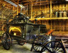 Burial Hearse Wagon Coach - vintage - nostalgia - western - antique by Lee Dos Santos Westerns, Flower Car, Long Way Home, Gothic, Horse Drawn, Antique Photos, Vintage Coach, Macabre, Classic Cars
