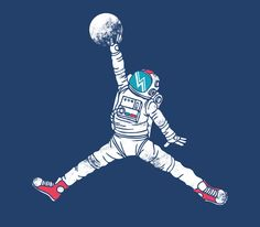 """""""Space Dunk"""" Art Print by Steven Toang on Society6"""