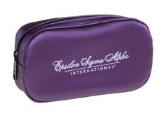 Available in RED!! Stylish designer cosmetic bag is made of PVC silk. A great premium, high end promotional product, or corporate gift - Silk Rounded Cosmetic Bag #femmepromo  #promocases #makeupbags