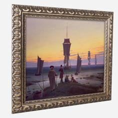 'The Stages of Life' by Caspar Friedrich Ornate Framed Art