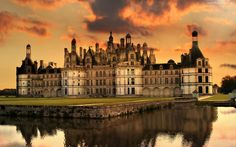 Francja, Dolina, Zamek, W Chambord, Rzeka, Odbicie