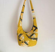 Vintage 1950's Patchwork Crazy Quilt Style Hobo Bag by 2LeftHandz, $25.00