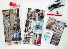 Love how Marie used products from the Gatherings Story Kit™for documenting a trip to Seattle. #craftthestory