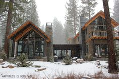 The HGTV Dream Home 2014 in Lake Tahoe – azirostphoto. Mountain Home Exterior, Modern Mountain Home, Dream House Exterior, Mountain Dream Homes, Mountain Houses, Mountain Living, Cabins In The Woods, House In The Woods, Lake Tahoe