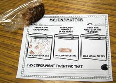 Melting Matter - changing states of matter with chocolate - kiddos would love this!