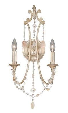 View the Vaxcel Lighting W0007 Anastasia 2 Light Wall Sconce at LightingDirect.com.