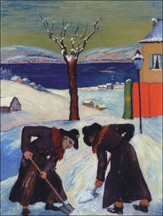 Overnight Snow, Marianne von Werefkin (Russia 1860--Switzerland 1938)