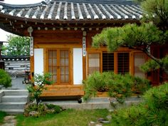Bukchon Hanok Village (북촌한옥마을) - hanok (traditional Korean house).