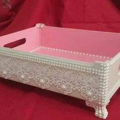 Diy Home Crafts, Arts And Crafts, Decoupage Paper, Diy Clay, Storage Organization, Craft Projects, Wedding Decorations, Shabby Chic, Furniture