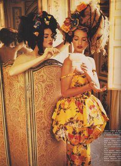 """barbiescanner: """" Vogue Italia editorial shot by Ellen von Unwerth 1992 Helena Barquilla and Karen Mulder """""""