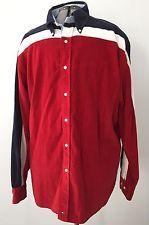 VTG Tommy Hilfiger Men's Corduroy XL Shirt Cotton Red White Blue Hip Hop Hipster