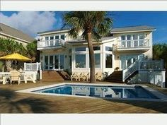 Forest Beach House Rental: Direct Oceanfront Hilton Head Dream Vacation Home. Dream wedding venue! <3 Not bad price either... and the wedding troup can all stay there.