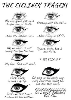 This is so true, but after going to Mac i dont use eyeliner now. So as much as his pained me, it is no longer an issue!!!