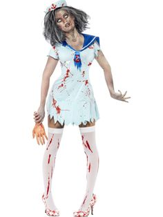 Ladies SHREDDED TUTU/'s Red White Halloween Fancy Dress Zombie Theatre Hen Party