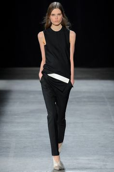perfect black shell - narciso rodriguez fall 2013