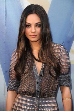 Mila Kunis Long sleek dark brown hair