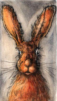 Ian MacCulloch-Artist - Hare Portrait
