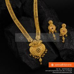 Explore the trendy collection of gold necklace set at Waman Hari Pethe Sons. Real Gold Jewelry, Gold Jewelry Simple, Gold Jewellery Design, Indian Jewelry, Bridal Necklace, Wedding Jewelry, Gold Necklace, Gold Choker, Gold Mangalsutra Designs