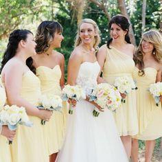 A breathtaking, yellow wedding by Brushfire Photography!