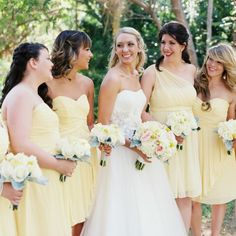 A breathtaking, yellow wedding by Brushfire Photography!