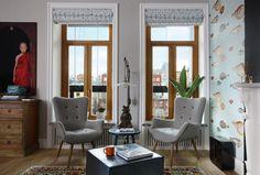 Mieszkanie artysty, fotele w kratkę - Wnętrze - Zainspiruj się z Foorni.pl