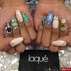 Cool nail art☻
