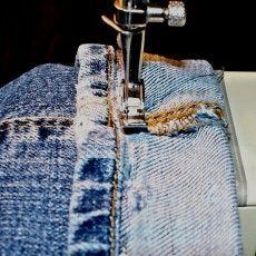 raccourcir un jean en conservant l'ourlet d'origine. en français!