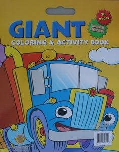 super jumbo activity and coloring books with stickers big rig by greenbriar int