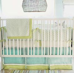 New Arrivals Sprout 3 Piece Crib Bedding Set, Green Bedding Set Baby Boy Baby Baby Boy Bedding Sets, Baby Boy Cribs, Baby Crib Bedding Sets, Nursery Bedding, Aqua Bedding, Baby Rooms, Neutral Bedding, Kid Rooms, Baby Room Neutral