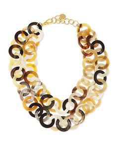 Nest horn link necklace @ Neiman- Marcus $195