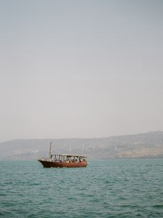 Sailing on the Sea of Galilee - Holy Land Fine Art Film Photography Art Print by Caroline Maxcy - X-Small Dream Vacations, Vacation Trips, Sea Of Galilee, Adventure Aesthetic, Israel Travel, Light Of The World, Holy Land, Greatest Adventure, Lake View
