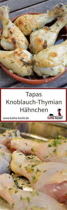 Diese kleinen Knoblauch-Thymian Hähnchenkeulen machen sich sowohl als Tapas als auch als Fingerfood ganz wunderbar. Sommerlich, unkompliziert und super zart - genau so müssen die kleinen Hähnchenkeulen sein. Das Rezept gibt es auf katha-kocht!