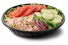 Picture of a subway salad bowl