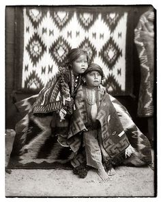 Native American Children by William Pennington and Lisle Updike who traveled the four corners of Colorado, Utah, New Mexico, and Arizona in a wagon. Native American Children, Native American Print, Native American Beauty, Native American Photos, American Spirit, Native American History, Native American Indians, American Art, Native Americans