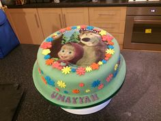 Masha and the bear cake Daughter Birthday, Baby Birthday, Birthday Cake, Mini Tortillas, Cupcake Cakes, Cupcakes, Pooja Room Design, Masha And The Bear, Bear Party
