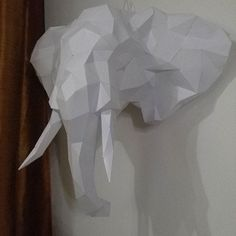 #lowpoly #paper #sculture #trofeo #homedecor #elephant #scultura di #carta