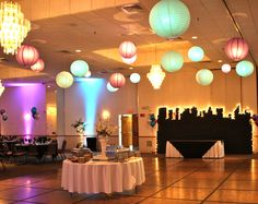 New York Nights Prom with backdrop and lanterns