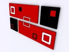Cuadros Modernos Minimalistas Abstractos Relieve (cuadruple) - $ 530,00