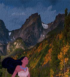 Pocahontas capelli al vento elaborazione G.M.
