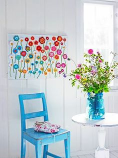 Flower Wall Hanging (ANNEMARIE'S CROCHET BLOG / HAAKBLOG)
