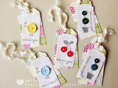 fun gift tags to stitch or hot glue
